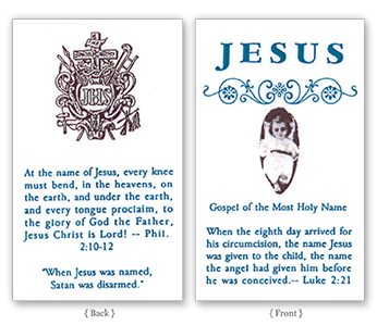 The Gospel of the Holy Name of Jesus