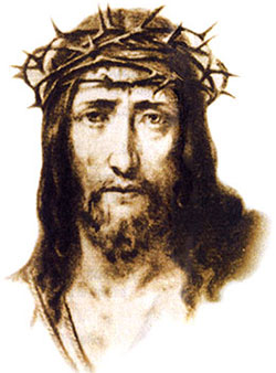 Jesus' Holy Face with Crown of Thorns