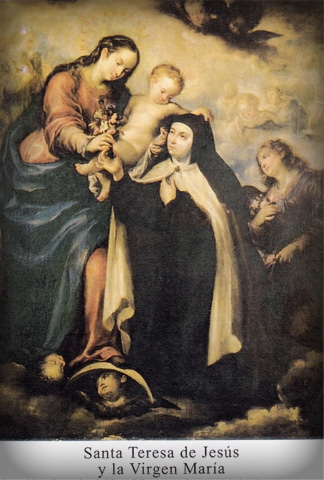 St. Teresa of Avila and Our Lady