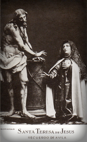 St. Teresa with Jesus bound to the pillar